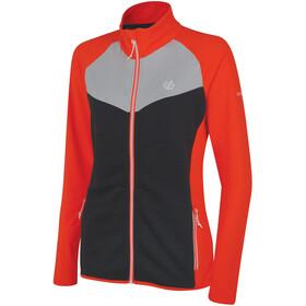 Dare 2b Allegiance Core Stretch Jacket Damer, fiery coral/ebony grey/argent grey